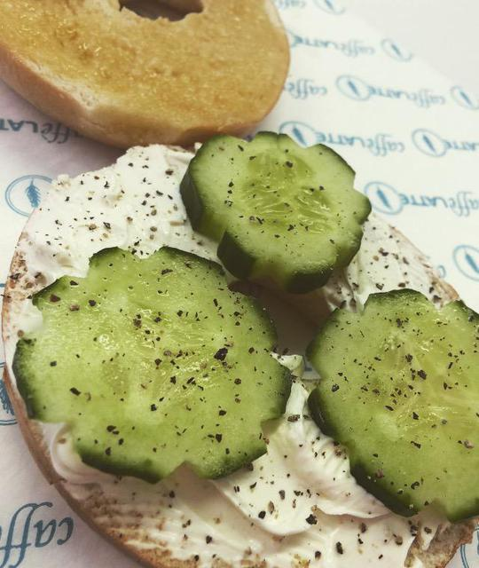 Cream Cheese & Cucumber Bagel