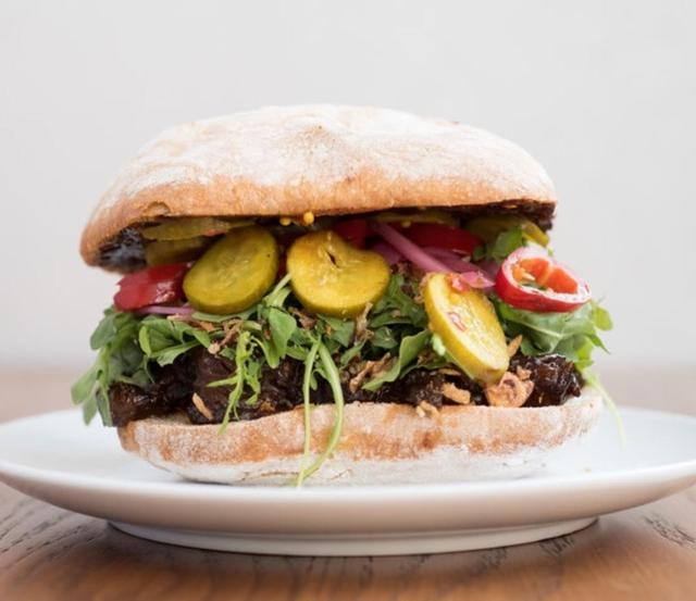 Chefs Very Slow Cooked BBQ Brisket Sour Dough Sandwich - FRIDAY DELIVERY