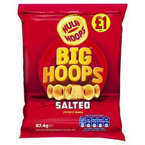Hula Hoops Big Hoops Salted 87.4g