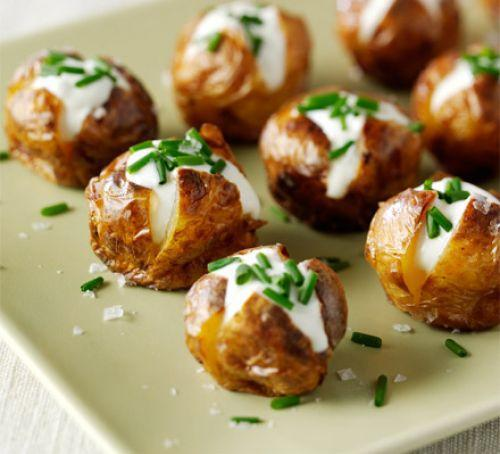 Twelve - Mini Jacket Potatoes With Soured Cream & Chives