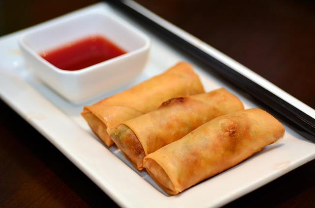 Ten - Small Vegetable Spring Rolls - Mixed Vegetables With Oriental Spices